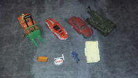 Lot  3 dinky toy originales + 1 solido / incomplètes + divers