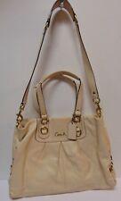 COACH F15513 ASHLEY Cream Ivory Leather HANDBAG PURSE Carryall Shoulder Bag Tote