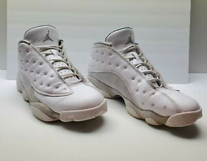 Size 12 - Men Nike Air Jordan 13 Retro Low Pure Money 2017 white platinum gray