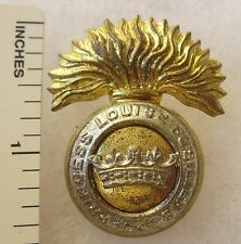 ORIGINAL WW2 Vintage CANADIAN ARMY PRINCESS LOUISE FUSILIERS CAP BADGE