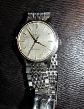 vintage man's omega seamaster wrist watch works