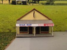 Ho scale building kit Milk Bar/Post Office laser cut kit.