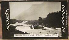 DEVILSMOTHER and ERRIFF Valley Mayo Cig Card GALLAHER IRISH VIEWS 361 Ireland