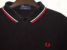 """FRED PERRY """"Slim Fit"""" Twin Tipped Polo T-shirt M3600 Grande L"""