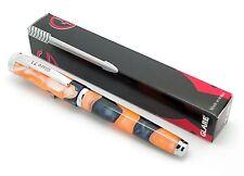 GLARE-71 Colourful Orange/Black Spot Marbled Flex-Nib Acrylic fountain pen