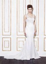 Satin Column/Sheath Strapless Wedding Dresses
