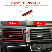10pcs Car Accessories Air Conditioner Outlet Decoration Strip Set Auto Supplies