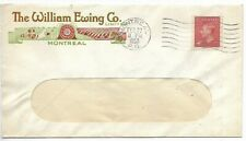 MONTREAL, QUEBEC Adver. Cover The William Ewing Co. dated FEB 22 / 8 PM / 1950