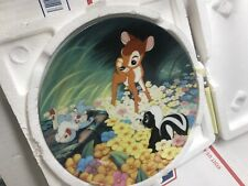 Disney Bambi Collectible plate in original Styrofoam box