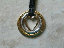 "~Brighton Keychain ""Heart Double"" Key Fob Silvertone New with tags..!~"