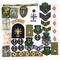 Lot of 50 pieces NATO Army Military Uniform Patches Epualette Rank Slides Badges