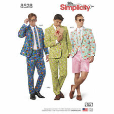 Simplicity Sewing Pattern 8528 Men's 34-42 Men's Suit Shirt Tie Costume Cosplay