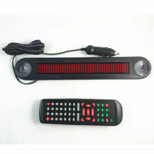Car 12V Red LED Message Sign Programmable Moving Scroll Board Remote Control New