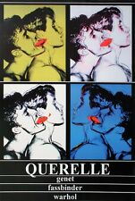 Querelle x 4 by Andy Warhol Art Print 1983 Poster 39x27 Blue Green Grey White