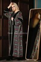 Abaya thobe Embroidered Palestinian Jordanian Traditional Arabic Dress Besht