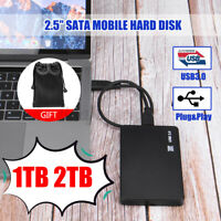 USB 3.0 1/2TB External Hard Drive HDD 2.5'' For PC Windows Mobile Hard Disks