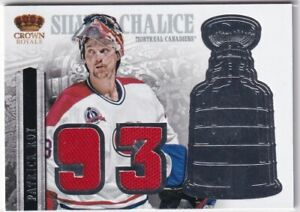 13-14 PANINI CROWN ROYALE SILVER CHALICE '93 JERSEY CANADIENS - PATRICK ROY