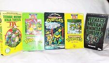 5 VHS Teenage Mutant Ninja Turtles TMNT Animated Shows Movies w/ Box Cases GUC