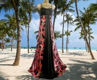 MONSOON **STUNNING PIPPA  SILK BROWN ORANGE ABSTRACT MAXI DRESS UK 16 VGC