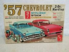 AMT 1957 Chevy 2 Door 3 In 1 Model Box Only Very Hard To Find In Any Condition..