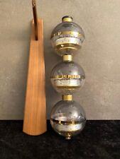 Sputnik Wetterstation in Messing Vintage Wandstation Barometer Thermometer