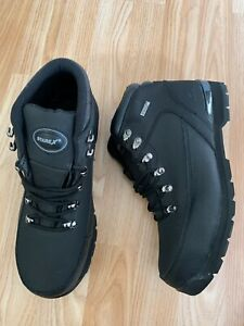 EXTRA WIDE Men Leather Light Flexible Safety Toe Cap Work Boot EN ISO 20346 Size