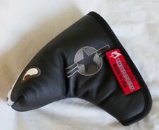 Rose & Fire Limited Edition Black Bomber Leather Putter Head Cover, USA Made
