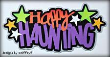 Craftecafe Halloween Title paper piecing premade scrapbook diecut piece Wol 00006000 Ffey5