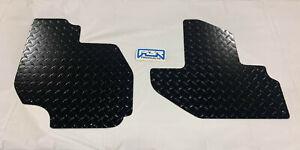 2016 2021 Kawasaki T2 or T4 Front Floor Boards Diamond Plate BLACK POWDER COAT