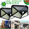 100LED Solar Power PIR Motion Sensor Wall Light Outdoor Garden Lamp Waterproof U