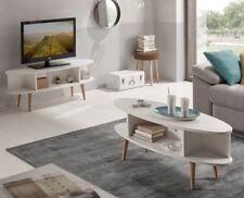 Hogar24- Conjunto salón - Mesa televisión mueble tv + mesa centro salón ovalados
