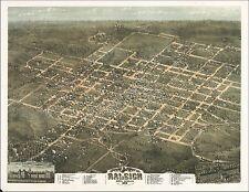 1872 Raliegh North Carolina map Genealogy atlas poster Durham Wake county Nc 9