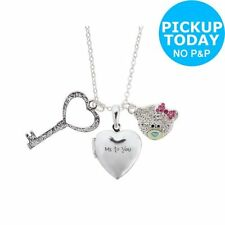 Silver Plated Glass Charm Costume Necklaces & Pendants