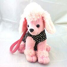 Pink Poodle Purse Bag Dog Black &  00001912 White Polka Dots Plush Tutu Girls Zipper Pouch