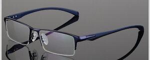 Half Rim Metal Mens Womens Frames Rectangle Light Metal RX Prescription Glasses