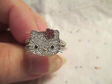 Hello Kitty Sterling silver ring split band