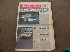 Motoring News 26 October 1972 MN Plains Rally Brands F1 John Players Challenge