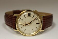 Vintage Bulova Accutron Gold Filled Silver Dial 34mm Watch