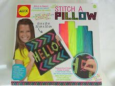 "New ListingNew Alex Craft Stitch A Pillow in Neon 13' x 13"" Kit age 6+ Children project"