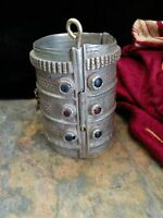 Vintage Tribal Cuff Well-Traveled Pashtun Bracelet 3.5""