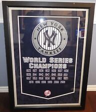 """~~NY Yankees MASSIVE 32x44"""" High Quality Framed 1923-2009 World Series Pennant~~"""
