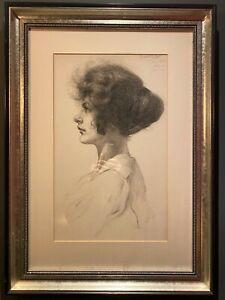 Original Gerald Cooper R.C.A. Large Portrait pencil of a woman. Signed.81 x 58.5