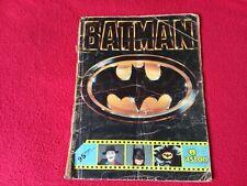 Album de Cromos BATMAN LA PELICULA, ASTON 1989, COMPLETO DC COMICS
