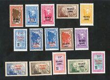 MADAGASCAR  surchargés FRANCE LIBRE sur 2 lignes NEUFS - 1943