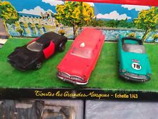 LOT DE 3 NOREV FRANCE 1/43 LANCIA STRATOS + SIMCA OCEANE + SIMCE MARLY AMBULANCE