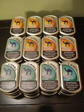 Lot Of 60 Camel Snus Tin Cans Crafts Storage Survival Backpacking Scrapbooking