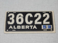1953 Topps license plate gum card Alberta Canada