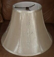large beige lamp shade with design allen & roth