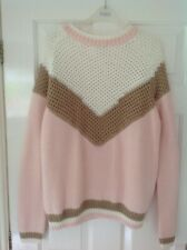 WAREHOUSE - Pink Winter Jumper - Size 18 - Free Post