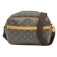 Louis Vuitton Reporter PM M45254 Monogram Crossbody Bag Brown LV France Unisex